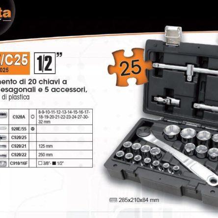 923E/C25 1/2  (8-32 MM) LOKMA TAKIMI